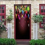 Azbza Pegatinas De Puerta En 3D Infantiles Luces De Navidad De Colores 90 X 210Cm Adhesivo Para Puerta Y Ventana De Vinilo Para Habitación Infantil Regalo De Nacimiento