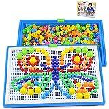 ITODA 592pcs Mosaique Creative Puzzle Jouet Bloc de magnétique Jouet Educatif Créatif DIY Jeu de Construction Colorée Cadeau de Noël Fête Anniversaire pour Enfants Filles Garçons