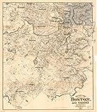 1907 Map of The City of Boston and Vicinity - Size: 20x24 - Ready to Frame - Boston   Boston Metropo