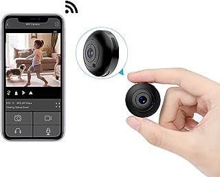 小型カメラWiFi 防犯カメラ スパイカメラ 隠しカメラ 1080P高画質暗視 150°広角撮影 動体検知 警報通知 長時間録画 iOS/Android遠隔操作 日本語取扱説明書 OUCAM 2020新型