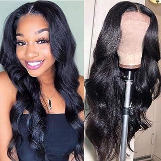 Aliabc 4x4 Lace Closure Human Hair Wigs Brazilian Body Wave Lace Front Wigs Human Hair Lace Closure Wigs Natural Color (12...