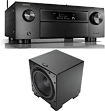Denon AVR-X6500H 11.2 Channel A/V Receiver with HEOS and Qty: 1 Martin Logan Dynamo 1000 12