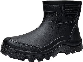 LvRao Bottines pour Homme Jardin Pêche Extérieur Cuisine Bottes Caoutchouc Antidérapant Chaussures