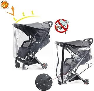 Universal Clear Buggy Cochecito de beb/é Cochecito de beb/é Transparente Lluvia Cubierta de viento Beb/é Ni/ño Parque de compras de viaje 77 x 47 x 57 cm JJPRIME