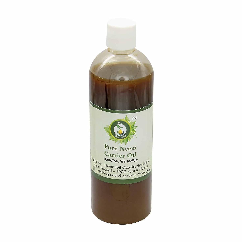 市場ずんぐりした奇跡R V Essential 純Neemキャリアオイル100ml (3.38oz)- Azadirachta Indica (100%ピュア&ナチュラルコールドPressed) Pure Neem Carrier Oil