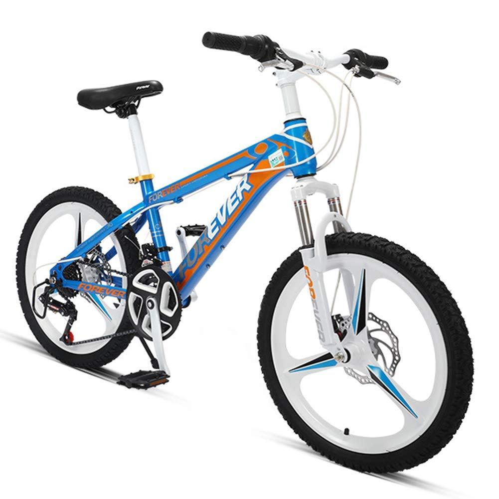 FANG 20 Pulgadas Niño Bicicleta Montaña, 24 Velocidades Bicicleta de Montaña Hardtail, Doble Freno Disco Bicicleta BTT, Marco De Acero De Alto Carbono,Azul: Amazon.es: Deportes y aire libre