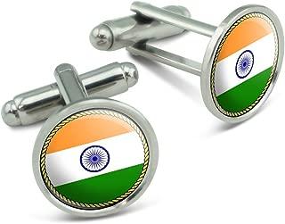 Made on Terra Flag of India Men's Cufflinks Cuff Links Set