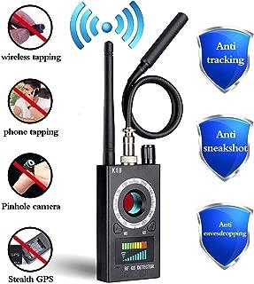 Anti Spy Detector, RF Detector & Camera Finder, Bug Detector, Upgraded RF Signal Detector, FEEKE GSM Tracking Device for Wireless Audio Bug Hidden Camera Detector (Black)