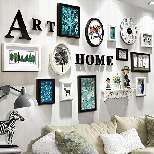 Cadre décoratif Peintures décoratives de Chambre, Galerie de photos Cadres ensembles de 12 Restaurant Peinture Peintures Murales Fond de Canapé Mur Décoratif Peintures Peinture ( Couleur : B , taille : 12frames/202*106CM )