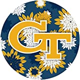 R and R Imports Georgia Tech Yellow Jackets 4 Inch Round Floral Magnet