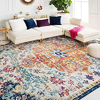 Best hillsby saffron blue area rug Reviews