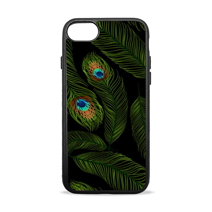 Apple Case Shockproof Slim TPU Protective Cover Peacock Feather Soft Rubber Silicone Cover Phone Case Compatible with iPhone 7/8 iPhone 7/8 Plus [4.7 inch/5.5 inch]