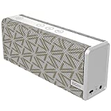 Bluetooth Speaker,DOSS SoundBox Color Portable Wireless Bluetooth 4.0 Speakers with 12W Stereo Sound and Enhanced Bass, 12H Playtime and handsfree for Phone, Tablet, TV, etc[Grid White]