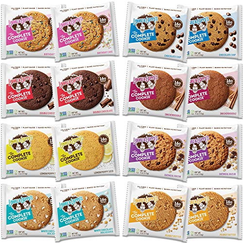 Lenny and Larry's The Complete Cookie | Vegan Cookies | 12x Protein Packed Complete Cookies (12 Different Flavours) -16g of Protein Per Serving | Fresh Baked, Non GMO Cookie- Healthy, Low Fat!