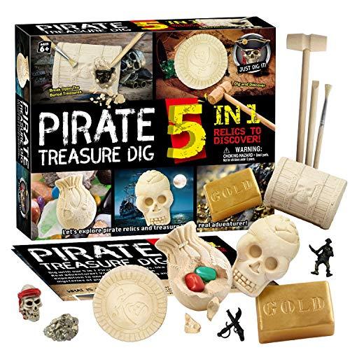 Pirate Treasure Dig Kit for Kids