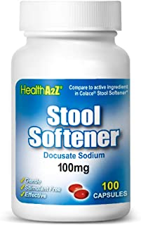 Sponsored Ad - HealthA2Z® Stool Softener, Docusate Sodium 100mg, Compare to Colace® Stool Softener Active Ingredient, 100 ...