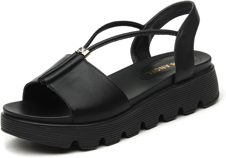 Minkun Summer Sandals Women's shoes Ladies Casual shoes Open-Toe shoes Thick Soles shoes