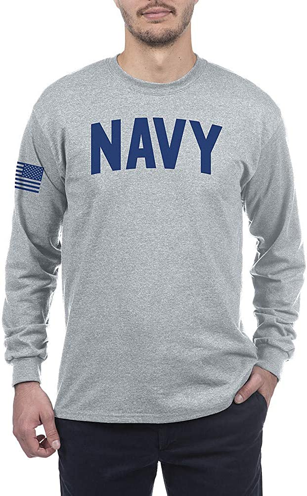 Elite Fan Shop Military Long Sleeve T Shirt Gray