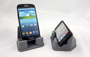 PhoneProp - Universal Fit Soft Flexible SmartPhone Stand - Durable FDA High Grade Silicone - COLOR GRAY