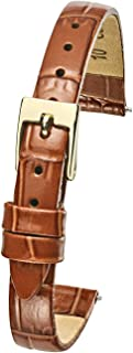 Alpine Genuine Leather Watch Band Strap in Shiny Alligator Grain Finish -White, Black, Honey Brown, Red in Sizes 6, 8, 10mm