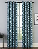 Peri Home Trellis Irongate Curtain Panel, 84', Aqua