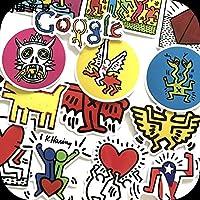 キース へリング Keith Haring 画家 芸術 アート アーティスト ステッカー 14枚セット ストリート スケボー スノボー ボム 防水仕様 強粘着タイプ