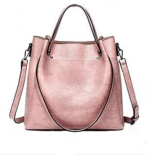 Fashion Handbag Tote Bag Hobo Bag Shoulderbag For Women,Large Capacity Oil Wax Leather(4Color:Brown,Blue,Black,Pink)