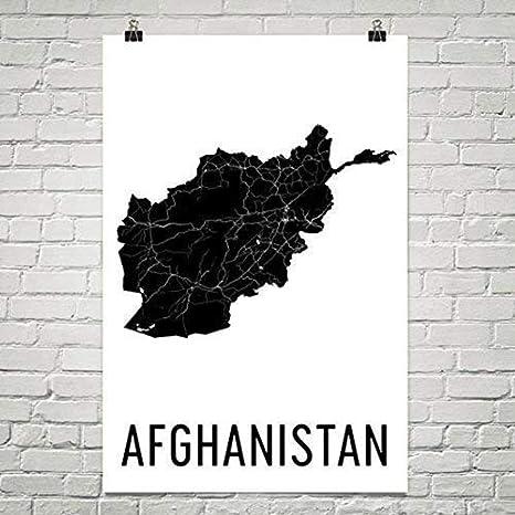 Afghanistan Map Map Of Afghanistan Afghan Art Afghanistan Poster Afghanistan Wall Art Afghanistan Poster Afghanistan Map Poster 24 X36 Posters Prints