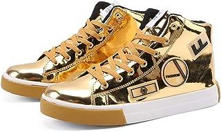 Scarpe da Uomo Casual Alte Punta Arrotondata Scarpe da Ginnastica alla Moda Primavera Sneakers Hip-Hop Skateboard Piattafo...