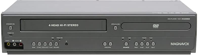 Magnavox DV225MG9 DVD Player and 4 Head Hi-Fi Stereo VCR with Line-in Recording (Renewed)