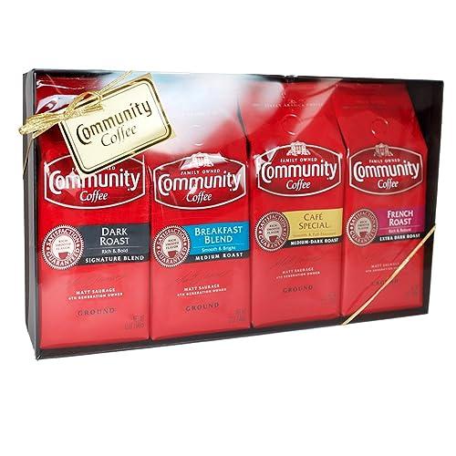Community Coffee Gift Set, Premium Ground Coffee 12oz. Variety Pack,