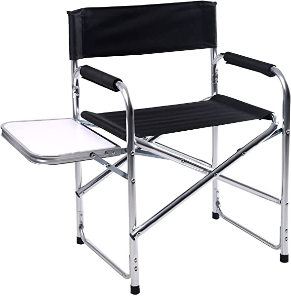 Lotus Analin Aluminum Folding Director S Chair With Side Table Camping Traveling