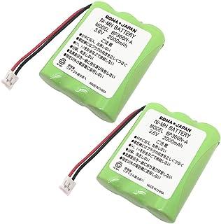 【通話時間3.3倍/大容量2000mAh】【2個セット】SAXA サクサ WS200 WS240 WS-II の BP366N-A コードレスホン 子機 電話機 充電池 バッテリー 互換 【ロワジャパン】