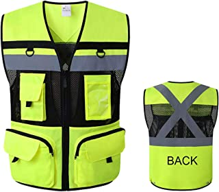 Jksafety 9 Pocket Class 2 High Visibility Safety Vest