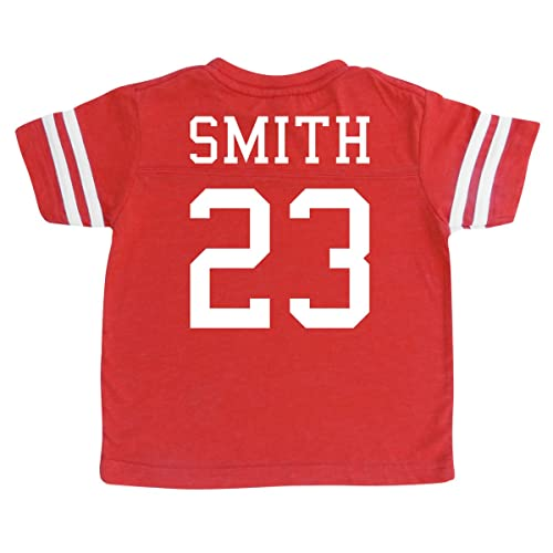 6b26c8aa007 Custom Cotton Football Sport Jersey Toddler & Child Personalized with Name  and Number