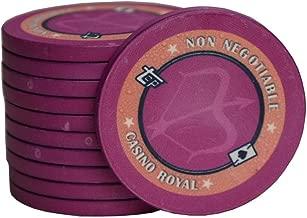 Fichas de póquer, Fichas de Poker SetPoker Club de cerámica Sala de ajedrez Mahjong Casino juego de cartas de la moneda de Chip Valor Nominal de grupos de sistemas 10000 (100) ficha de juego Ideal par
