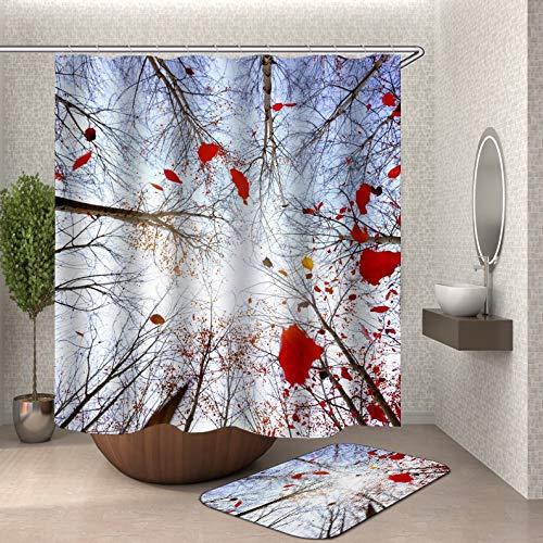 Scène rideau de douche tissu 3d salle de bain rideau de douche paysage rideau de douche crochet ménage imperméable salle de bain rideau famille imperméable moisissure rideau de douche A15 180x200 cm