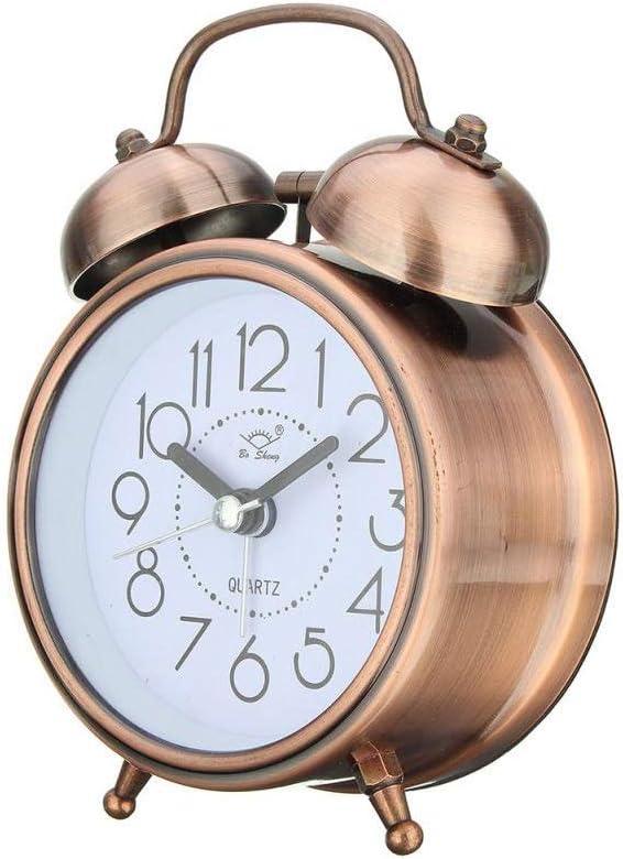 GANFANREN Alarm Clock Fort Worth Mall Luxury Vintage Retro Silent Pointer Clocks Round