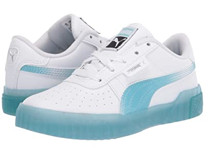 Puma Kids Cali Iced (Little Kid) (PUMA White/Milky Blue) Girls Shoes