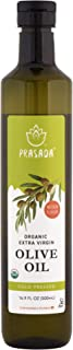 Prasada Extra Virgin Olive Oil, Organic (500ml) -Cold Pressed, Non-GMO, BPA-Free Food-Grade Plastic Bottle | Excellent for Stir-Frying, Sauteing and Dressings
