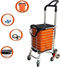 Flatbed truck 35L Portable Shopping cart climbs The Foldable Aluminum Alloy Trolley Trolley car Shopping Trailer Double Handle Eight Wheel with Brake