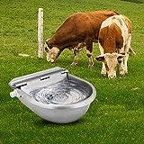 Cuenco de agua automático para beber, 4 l de acero inoxidable con válvula de flotación ajustable, cuencos de agua para ganado granja y rancho para perro, caballo, ovejas y cabra