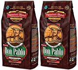 Cafe Don Pablo GDFKGYTH 2LB Gourmet Coffee Signature Blend - Medium-Dark Roast Coffee - Whole Bean Coffee - 2 Pound (2lb) Bag, 2 Pack