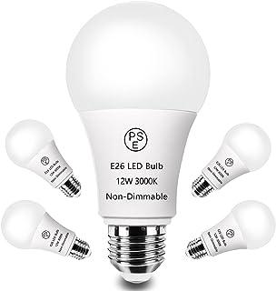 E26 LED 電球 100W 形相当 E26 口金 12W 電球色 3000K 暖色 Lotrue E26 1200ルーメン LED 電球 高輝度 高演色 長寿命 調光不可 密閉形器具対応 PSE 認証済み 一般電球形 広配光タイプ 5個入り