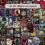 JIANGGUOMIN 50-100pcs Graffiti Stickers Toy Skateboard Motorcycle Draw Box Stickers Cartoon Stickers 50PCS