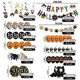 Halloween Deko, 42 Stück Luftballons Halloween Horror Deko Set, inklusive Fledermaus, Spinne, Kürbis Deko, Happy Halloween Banner, für Garten Bar Wohnzimmer Horror Party - 2