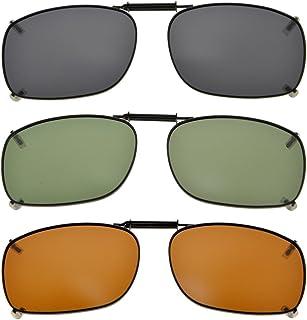 aa753b0b52 Eyekepper Marco de metal borde polarizado lente clip en gafas de sol 54x38MM