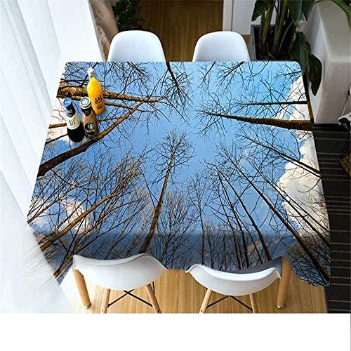 WSJIABIN Mantel Creativo de Moda Rectangular Anti-incrustante Mantel Poliéster D Impresión Digital Decorativo Adecuado para Interiores y Exteriores x cm90x90cm