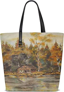 Best medium banner house check leather tote Reviews