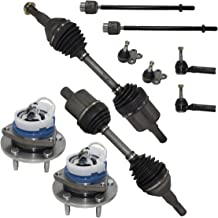 Detroit Axle - New 10-Piece Front Suspension Kit - (2) Lower Ball Joints, All (4) Outer and Inner Tie Rod, Pair (2) Wheel Hub, (2) CV Axles - Excludes Supercharged and SS Models